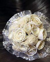 Fehér menyasszonyi csokor
