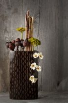 Vésett ovális-téglalap váza