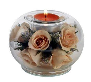 Mécsestartó Sárga Rózsa