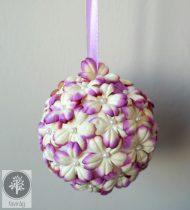 Virág gömb Cirmos lila